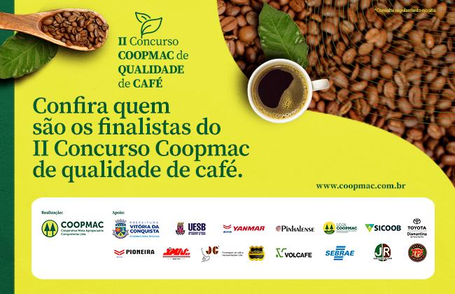 Conheça os finalistas do II Concurso COOPMAC de Qualidade de Café